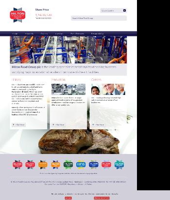 Hilton Food Group plc Website Screenshot