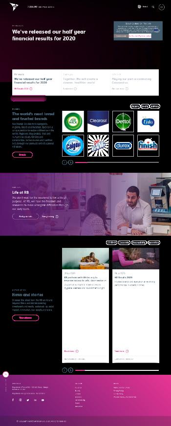 Reckitt Benckiser Group plc Website Screenshot