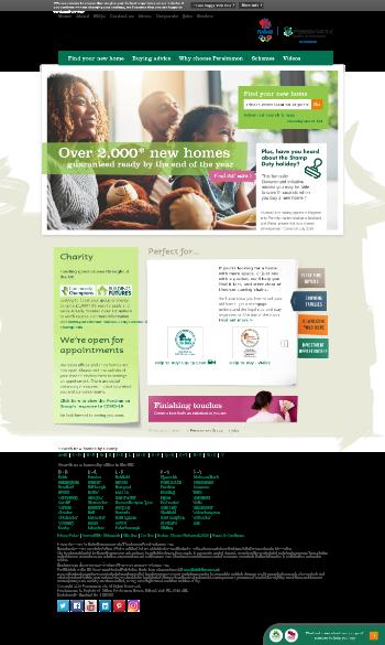 Persimmon Plc Website Screenshot