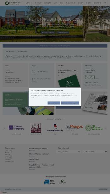 Barratt Developments PLC Website Screenshot