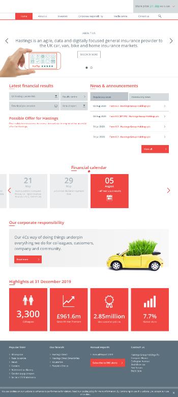 Hastings Group Holdings plc Website Screenshot