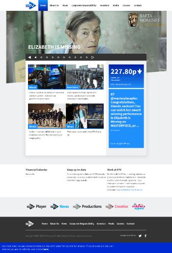 STV Group plc Website Screenshot