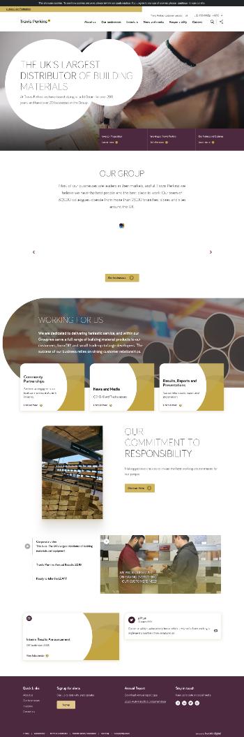 Travis Perkins plc Website Screenshot