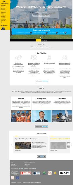 AGNICO EAGLE MINES LTD Website Screenshot