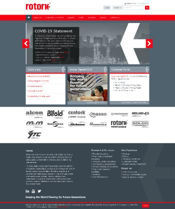 Rotork plc Website Screenshot