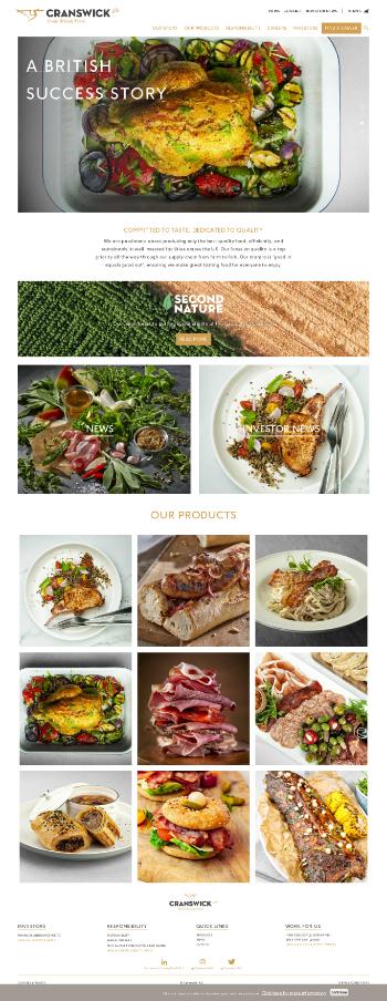 Cranswick plc Website Screenshot