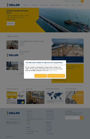 Keller Group plc Website Screenshot