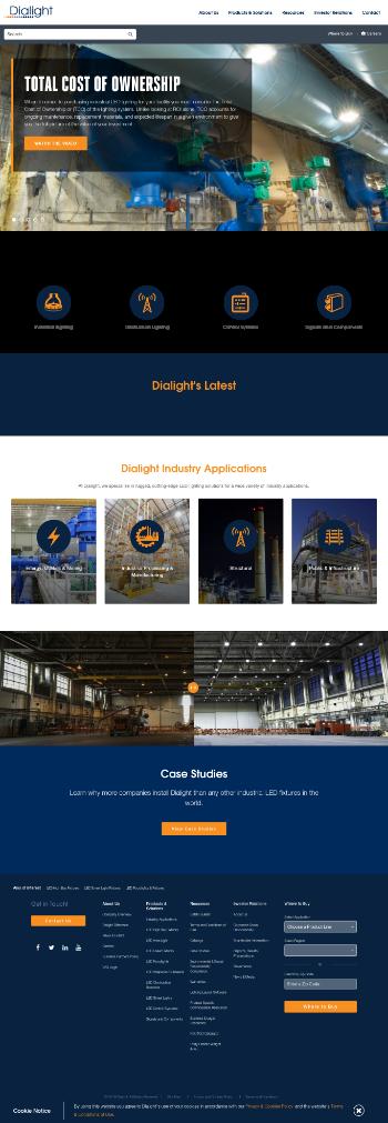 Dialight plc Website Screenshot