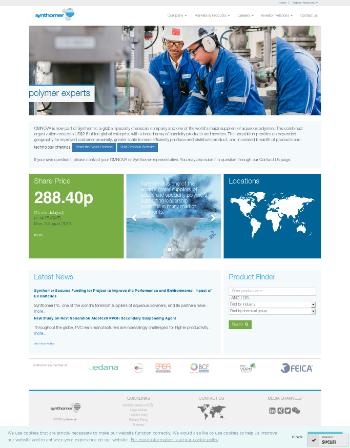 Synthomer plc Website Screenshot