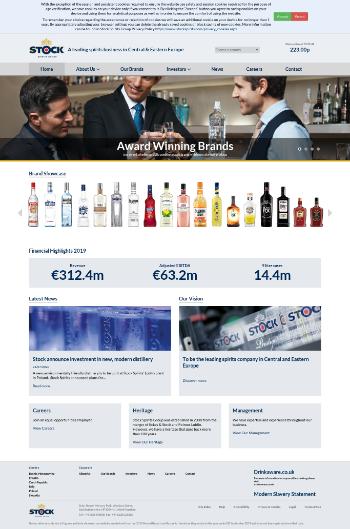 Stock Spirits Group PLC Website Screenshot