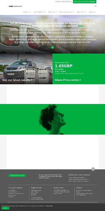 Redde Northgate plc Website Screenshot