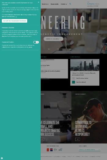 Genus plc Website Screenshot