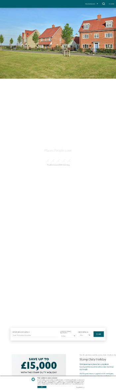 Countryside Properties PLC Website Screenshot