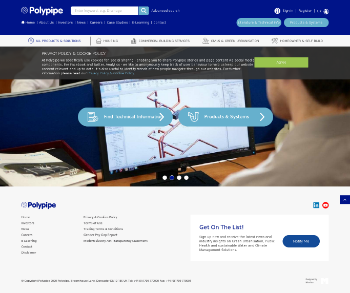 Polypipe Group plc Website Screenshot