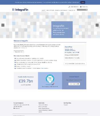 IntegraFin Holdings plc Website Screenshot