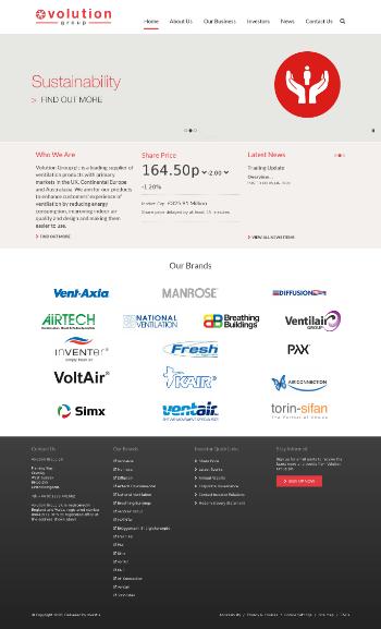 Volution Group plc Website Screenshot