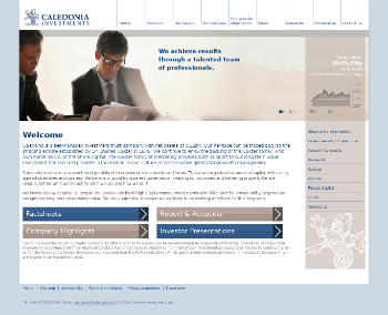 Caledonia Investments plc Website Screenshot