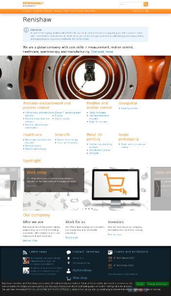 Renishaw plc Website Screenshot