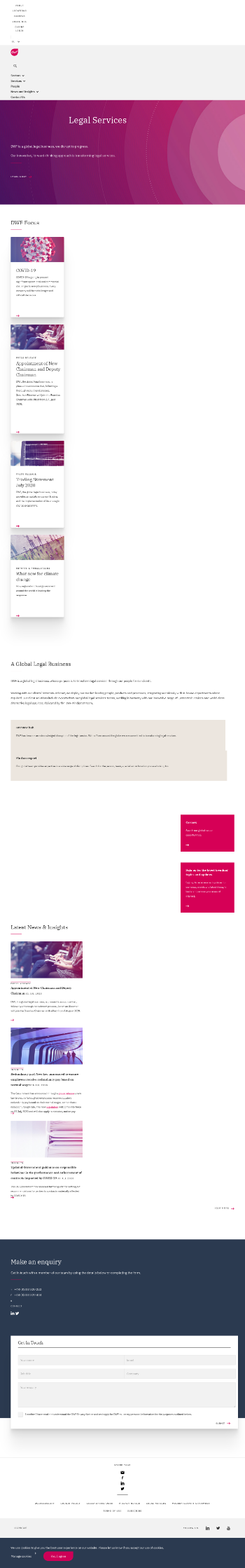 DWF Group plc Website Screenshot