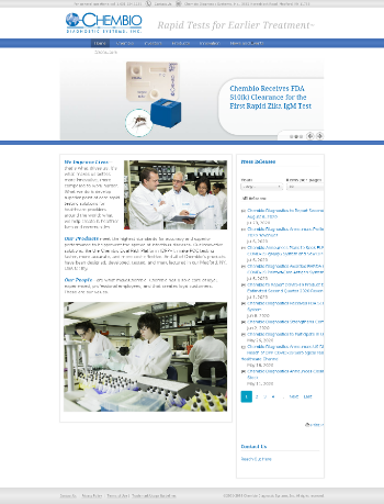 Chembio Diagnostics, Inc. Website Screenshot