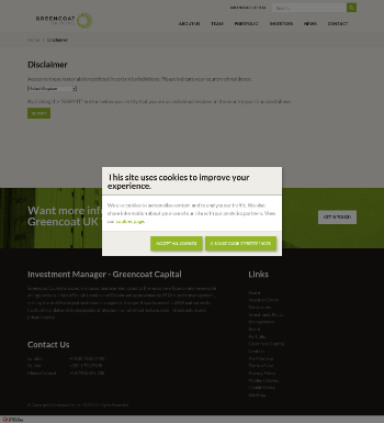 Greencoat UK Wind PLC Website Screenshot