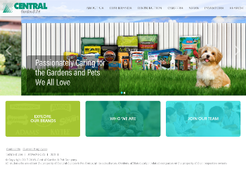 Central Garden & Pet Company Website Screenshot