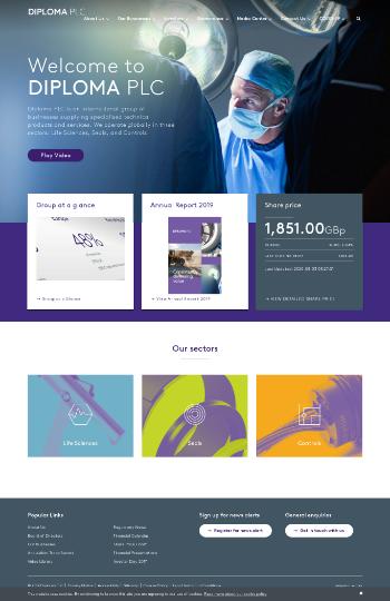 Diploma PLC Website Screenshot
