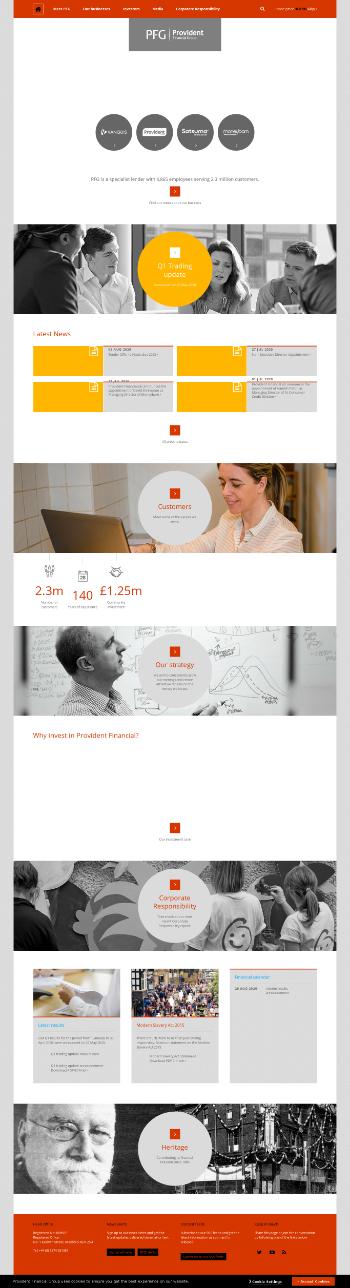 Provident Financial plc Website Screenshot