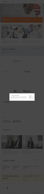 Syncona Limited Website Screenshot