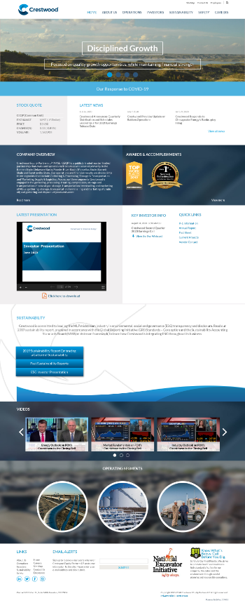 Crestwood Equity Partners LP Website Screenshot