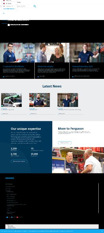 Ferguson plc Website Screenshot