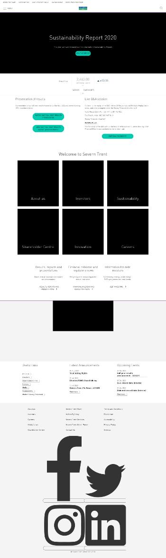Severn Trent Plc Website Screenshot