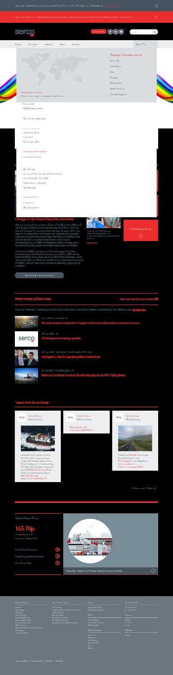 Serco Group plc Website Screenshot