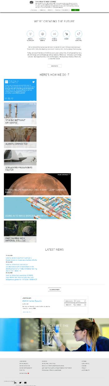 Smiths Group plc Website Screenshot