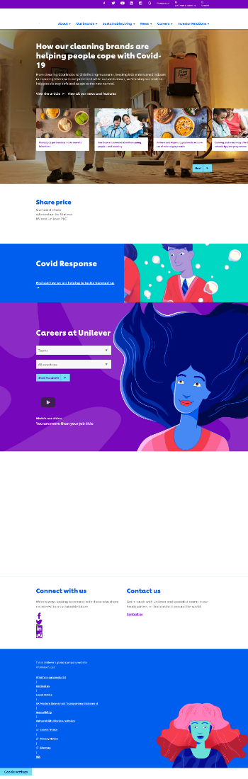 The Unilever Group Website Screenshot