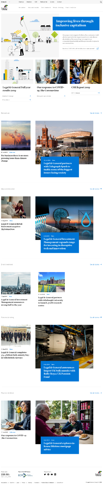 Legal & General Group Plc Website Screenshot