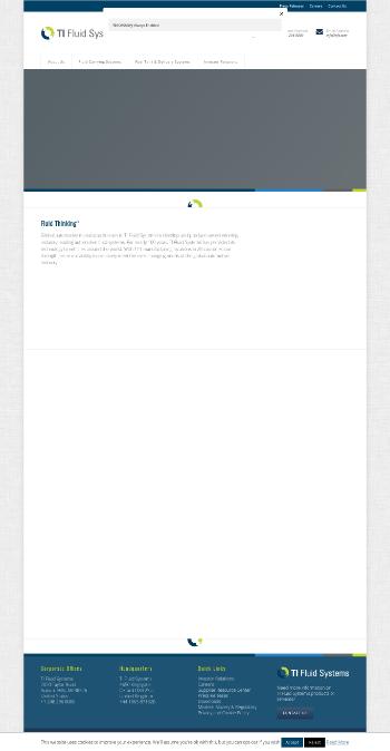 TI Fluid Systems plc Website Screenshot