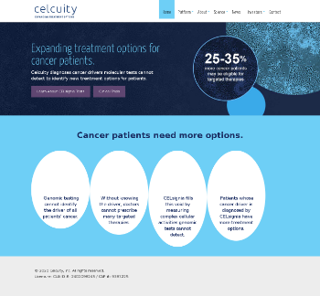 Celcuity Inc. Website Screenshot