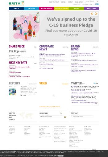 Britvic plc Website Screenshot