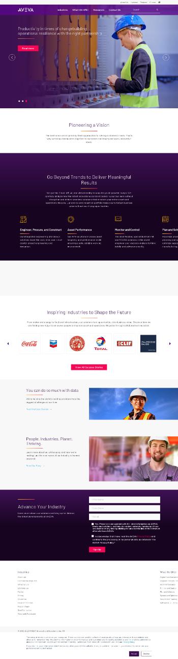 AVEVA Group plc Website Screenshot