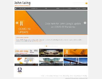 John Laing Group plc Website Screenshot