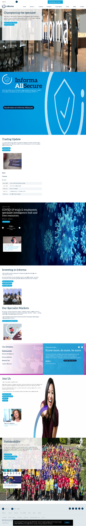 Informa plc Website Screenshot
