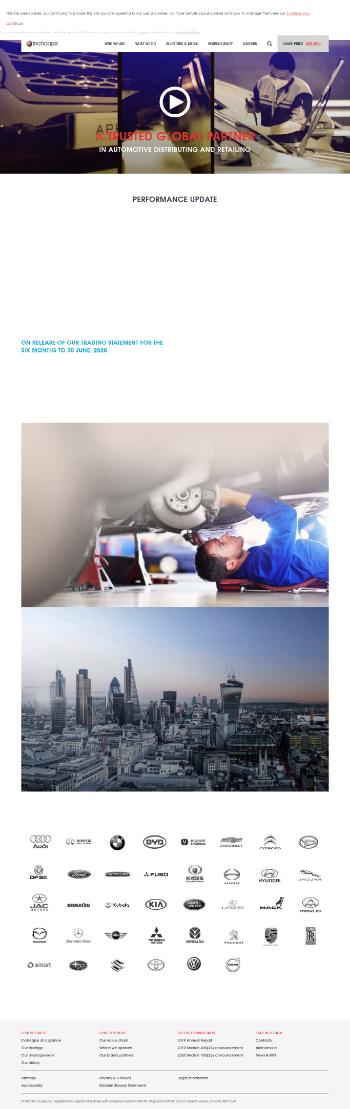 Inchcape plc Website Screenshot