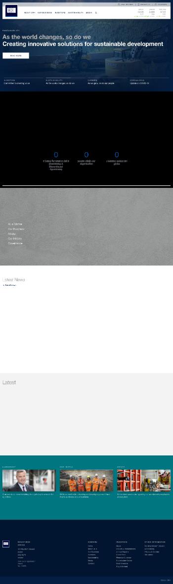 CRH plc Website Screenshot