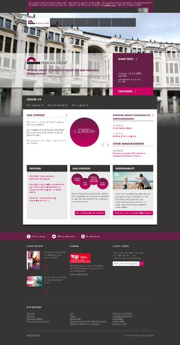 Phoenix Group Holdings plc Website Screenshot
