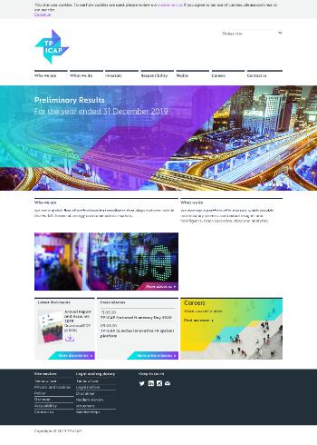 TP ICAP plc Website Screenshot