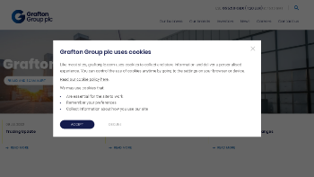 Grafton Group plc Website Screenshot