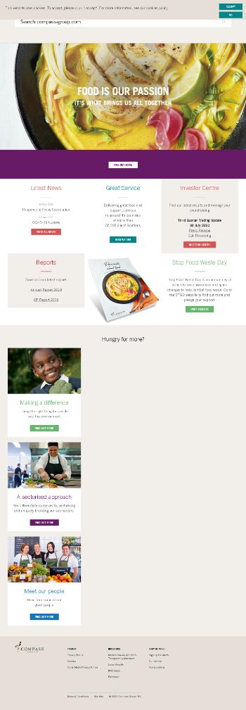 Compass Group PLC Website Screenshot