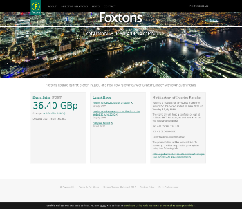 Foxtons Group plc Website Screenshot