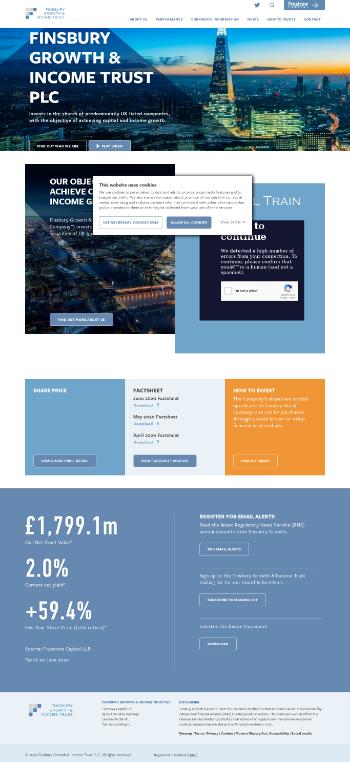 Finsbury Growth & Income Trust PLC Website Screenshot